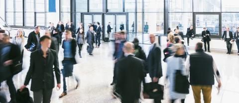 blurred people walking in a futuristic corridor- Stock Photo or Stock Video of rcfotostock | RC-Photo-Stock