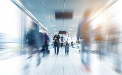 blurred people walking in a modern corridor- Stock Photo or Stock Video of rcfotostock | RC-Photo-Stock