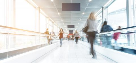blurred people walking in a modern hall- Stock Photo or Stock Video of rcfotostock | RC-Photo-Stock