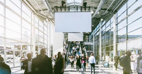 blurred people walking in a modern hall of a trade fair : Stock Photo or Stock Video Download rcfotostock photos, images and assets rcfotostock | RC-Photo-Stock.: