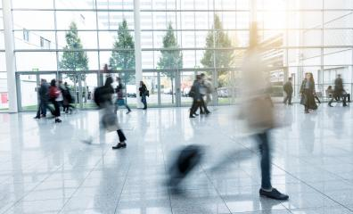blurred trade fair visitors- Stock Photo or Stock Video of rcfotostock | RC-Photo-Stock