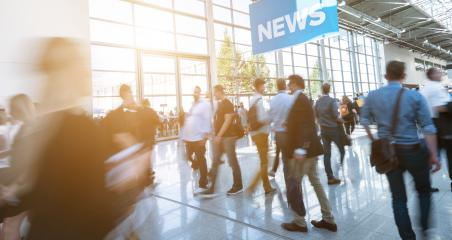 Blurred trade fair visitors walking in a modern hall : Stock Photo or Stock Video Download rcfotostock photos, images and assets rcfotostock | RC-Photo-Stock.:
