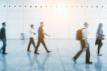 Blurred traveler on a airport- Stock Photo or Stock Video of rcfotostock | RC-Photo-Stock