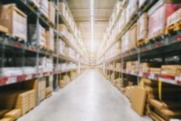 Blurred warehouse or storehouse as background- Stock Photo or Stock Video of rcfotostock | RC-Photo-Stock
