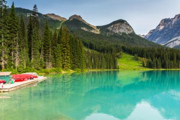 Boat rental at the Emerald Lake in canada- Stock Photo or Stock Video of rcfotostock | RC-Photo-Stock