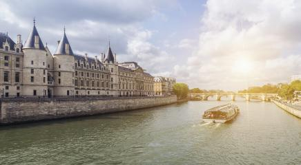 Boat tour on Seine river in Paris at summer. Paris, France- Stock Photo or Stock Video of rcfotostock | RC-Photo-Stock