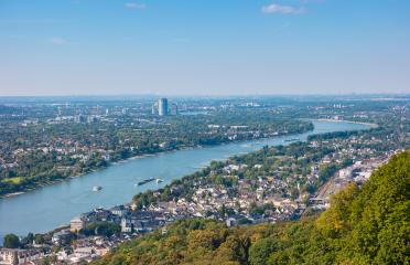 Bonn at the rhine river view from the Drachenfels- Stock Photo or Stock Video of rcfotostock | RC-Photo-Stock