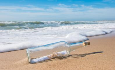 bottle with a message at the beach- Stock Photo or Stock Video of rcfotostock | RC-Photo-Stock