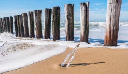 Bottle with a message in the beach- Stock Photo or Stock Video of rcfotostock | RC-Photo-Stock
