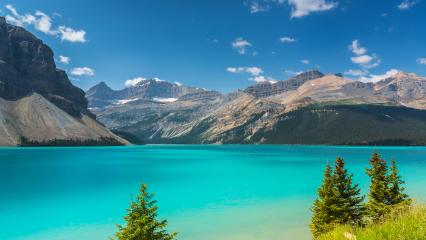Bow Lake at Rocky Mountains in canada  : Stock Photo or Stock Video Download rcfotostock photos, images and assets rcfotostock | RC-Photo-Stock.: