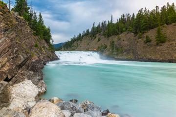 Bow waterfalls in banff national park canada- Stock Photo or Stock Video of rcfotostock | RC-Photo-Stock