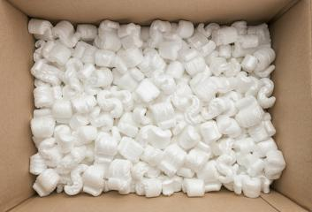 box packaging with polystyrene peanuts inside : Stock Photo or Stock Video Download rcfotostock photos, images and assets rcfotostock | RC-Photo-Stock.: