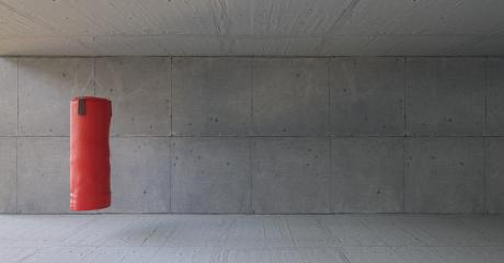 Boxsack im Fitnesscenter vor Wand aus Beton : Stock Photo or Stock Video Download rcfotostock photos, images and assets rcfotostock   RC-Photo-Stock.: