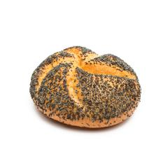 bread roll covered with poppy seeds isolated on white background- Stock Photo or Stock Video of rcfotostock | RC-Photo-Stock