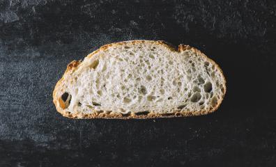 bread slice on dark background- Stock Photo or Stock Video of rcfotostock | RC-Photo-Stock