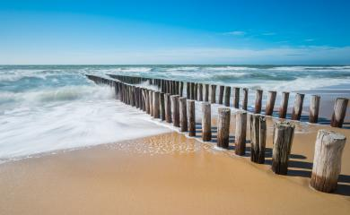 breakwater on a sandy beach in Zeeland, The Netherlands- Stock Photo or Stock Video of rcfotostock | RC-Photo-Stock