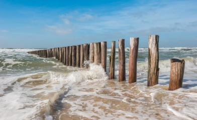 breakwaters with waves on the beach at the north sea in Domburg, Zeeland, Holland- Stock Photo or Stock Video of rcfotostock | RC-Photo-Stock