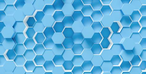 bright blue Hexagon honeycomb Background - 3D rendering - Illustration- Stock Photo or Stock Video of rcfotostock | RC-Photo-Stock
