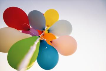 bright bunch of Colorful balloons- Stock Photo or Stock Video of rcfotostock | RC-Photo-Stock