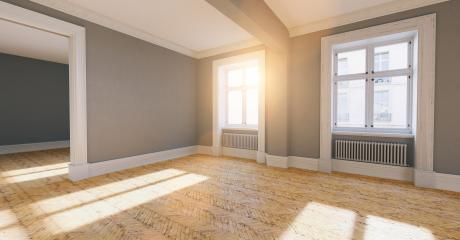 Bright empty room in old apartment as a passage room in berlin- Stock Photo or Stock Video of rcfotostock | RC-Photo-Stock