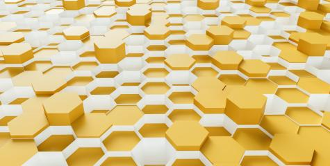 bright Hexagon Background - 3D rendering - Illustration - Stock Photo or Stock Video of rcfotostock | RC-Photo-Stock