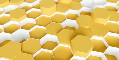 bright orange Hexagon Background - 3D rendering - Illustration - Stock Photo or Stock Video of rcfotostock   RC-Photo-Stock