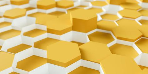 bright orange Hexagon Background - 3D rendering - Illustration - Stock Photo or Stock Video of rcfotostock | RC-Photo-Stock