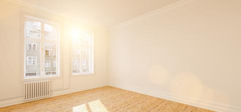 Bright passage room in renovated old apartment with stucco - Stock Photo or Stock Video of rcfotostock | RC-Photo-Stock