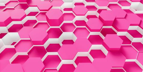 bright pink Hexagon Background - 3D rendering - Illustration - Stock Photo or Stock Video of rcfotostock | RC-Photo-Stock