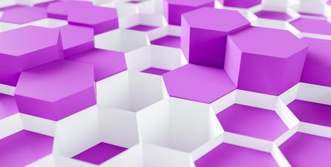 bright purple Hexagon honeycomb Background - 3D rendering - Illustration - Stock Photo or Stock Video of rcfotostock | RC-Photo-Stock