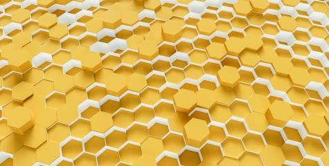 bright yellow Hexagon Background - 3D rendering - Illustration - Stock Photo or Stock Video of rcfotostock | RC-Photo-Stock