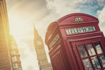 British Phone Booth with Big Ben in London, United Kingdom- Stock Photo or Stock Video of rcfotostock | RC-Photo-Stock