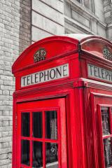 British Telephone Booth in London street, uk : Stock Photo or Stock Video Download rcfotostock photos, images and assets rcfotostock | RC-Photo-Stock.: