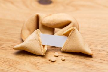 broken fortune cookie with a note  : Stock Photo or Stock Video Download rcfotostock photos, images and assets rcfotostock | RC-Photo-Stock.: