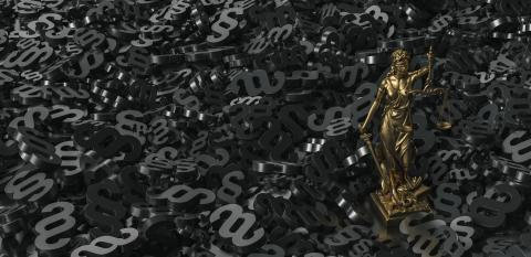 Bronze lady with scale, symbol of justice and law with black paragraphs background : Stock Photo or Stock Video Download rcfotostock photos, images and assets rcfotostock | RC-Photo-Stock.: