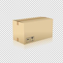 Brown carton delivery packaging box on checked transparent background. Vector illustration. Eps 10 vector file.- Stock Photo or Stock Video of rcfotostock | RC-Photo-Stock