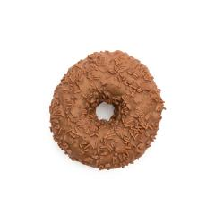 brown chocolate coated doughnut with sprinkles, isolated on white background- Stock Photo or Stock Video of rcfotostock | RC-Photo-Stock