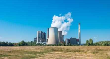 Brown coal power station at summer- Stock Photo or Stock Video of rcfotostock | RC-Photo-Stock