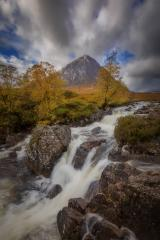 Buachaille Etive Mor im Herbst, Wasserfall, Schottland, Vereinigtes Königreich : Stock Photo or Stock Video Download rcfotostock photos, images and assets rcfotostock | RC-Photo-Stock.: