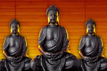 Buddha statue with glow against black background- Stock Photo or Stock Video of rcfotostock | RC-Photo-Stock