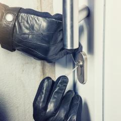 burglar holding Lock picker to open a door- Stock Photo or Stock Video of rcfotostock | RC-Photo-Stock