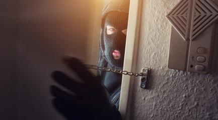 Burglar in mask at night : Stock Photo or Stock Video Download rcfotostock photos, images and assets rcfotostock | RC-Photo-Stock.: