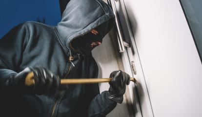 Burglar pries up the door and enters the house- Stock Photo or Stock Video of rcfotostock | RC-Photo-Stock