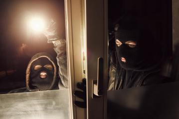 Burglar Teamwork at night to breaking and entering a victim's House : Stock Photo or Stock Video Download rcfotostock photos, images and assets rcfotostock | RC-Photo-Stock.: