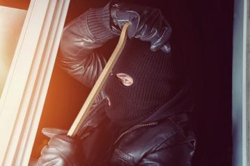 Burglar trying to break into a house with a crowbar at night : Stock Photo or Stock Video Download rcfotostock photos, images and assets rcfotostock | RC-Photo-Stock.: