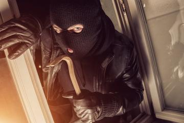 Burglar using crowbar to break into a house at night  : Stock Photo or Stock Video Download rcfotostock photos, images and assets rcfotostock | RC-Photo-Stock.: