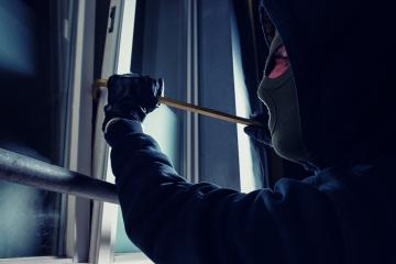 burglar using crowbar to break into a victim's house at night- Stock Photo or Stock Video of rcfotostock | RC-Photo-Stock