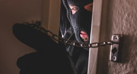 burglar with gloves opens door of appartment  : Stock Photo or Stock Video Download rcfotostock photos, images and assets rcfotostock | RC-Photo-Stock.: