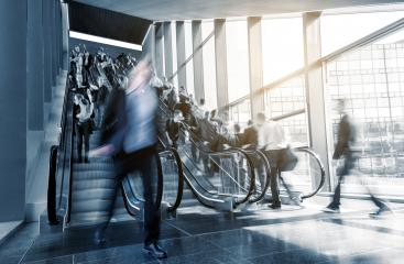 business center staircase with people in rush- Stock Photo or Stock Video of rcfotostock | RC-Photo-Stock
