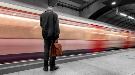 Business Commuter waiting for the next train in the London Underground : Stock Photo or Stock Video Download rcfotostock photos, images and assets rcfotostock | RC-Photo-Stock.: